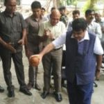 Automated Car Parking Bhumi Pujan at Transport Bhawan, New Delhi On August 9, 2016